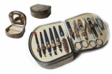 Zauber MS-187 Маникюрный Набор шкатулка овал 1 кус, 2 ножн