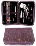 Kellermann 5205 N-M CUT Набор маникюрный КРОКО сиреневый (ножницы 2, Щипцы 1, пилочка 1, Пинцет 1, лопатка 6, кусачки 1)