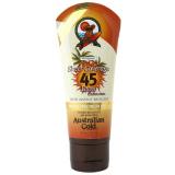 Australian GOLD Premium SPF 45 Sheer Faces с бронзаторами крем лосьон для загара в солярии для лица с автозагаром 88 ml