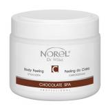 Norel PP 269 Chocolate body peeling – гелеобразный шоколадный скраб для тела, содержит молотую шелуху какао бобов 500g