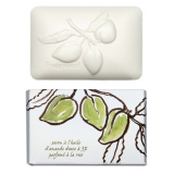 Fragonard S33003 Soaps with botanical Sweet Almond Oil Botanical Soap (ROSE FRAGRANCE) 300 g