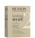 Revlon Professional LASTING SHAPE CURLY CURLY LOTION SENSITIZED HAIR 2 СОСТАВ ДЛЯ ЗАВИВКИ ДЛЯ окрашенных И ОСВЕТЛЕННЫХ ВОЛОС (Набор 3х100мл) 300мл 7222603000