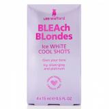 Lee Stafford Лосьон придающий моментально платиновый оттенок осветленным волосам Ice White Cool Shots, 4x15 мл 5060282701809